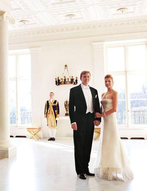 Willem-Alexander en Máxima voor de lens van Mario Testino