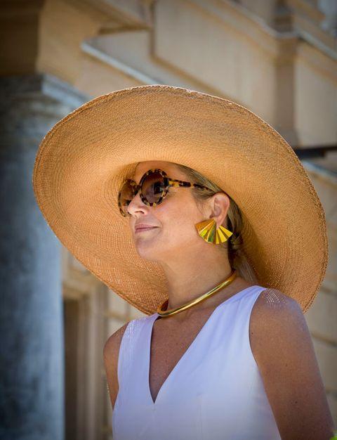máxima zonnebril hoed palermo 2017