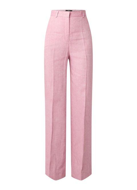 de bijenkorf broek met wijde pijpen grote broek roze broek modetrend 2019 2020
