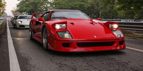 Land vehicle, Vehicle, Car, Supercar, Sports car, Ferrari f40, Race car, Performance car, Automotive design, Coupé,