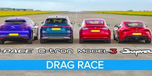 Drag race Supra y eléctricos