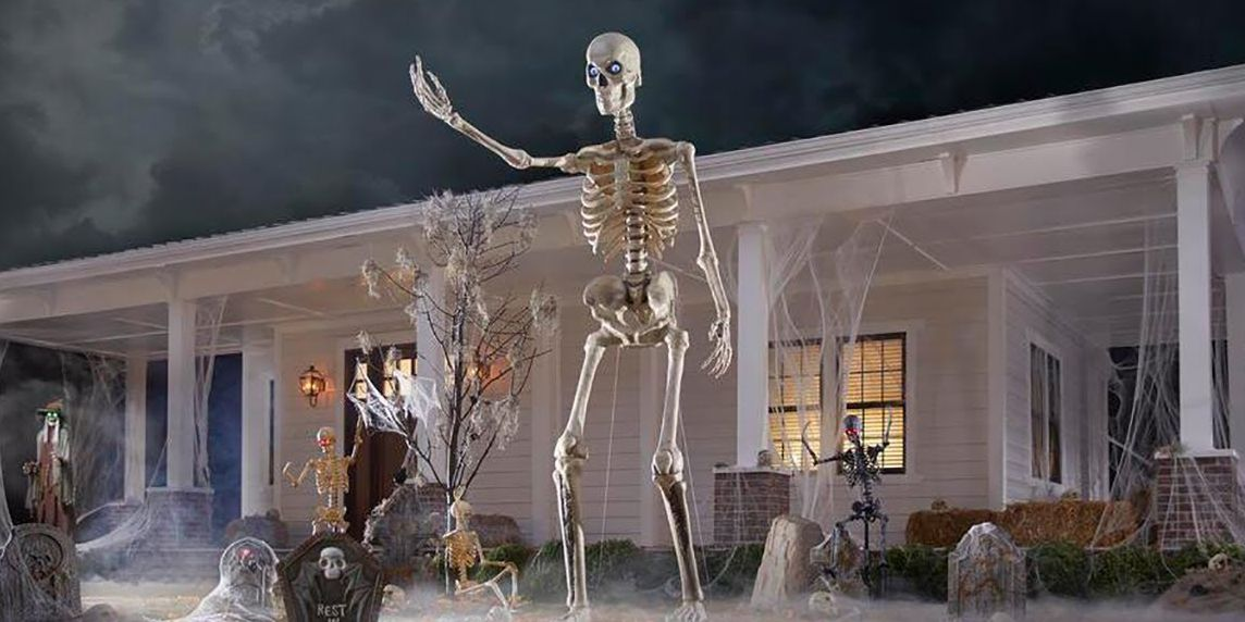 How to Buy That Giant Halloween Skeleton That Keeps Going Viral