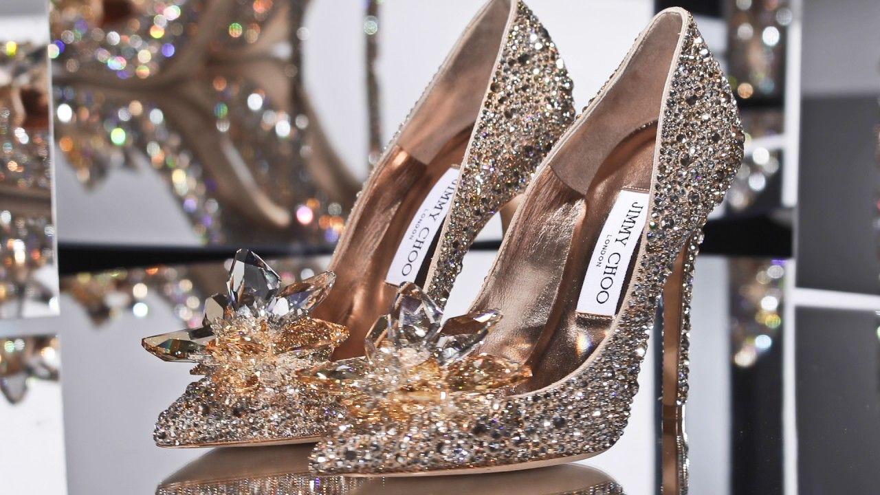Gold Jimmy Choo Cinderella Shoe