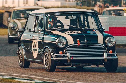 Land vehicle, Vehicle, Car, Classic car, Mini, Subcompact car, Automotive wheel system, Compact car, Classic, Racing,