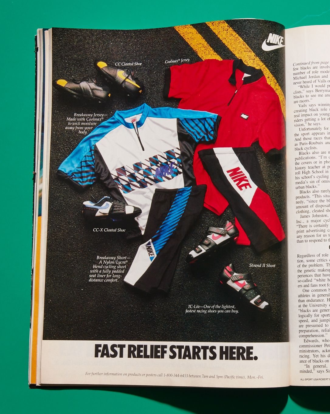 Retro Nike cycling gear ad