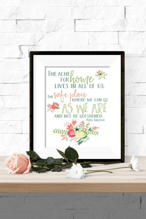 maya angelou quote printable artwork