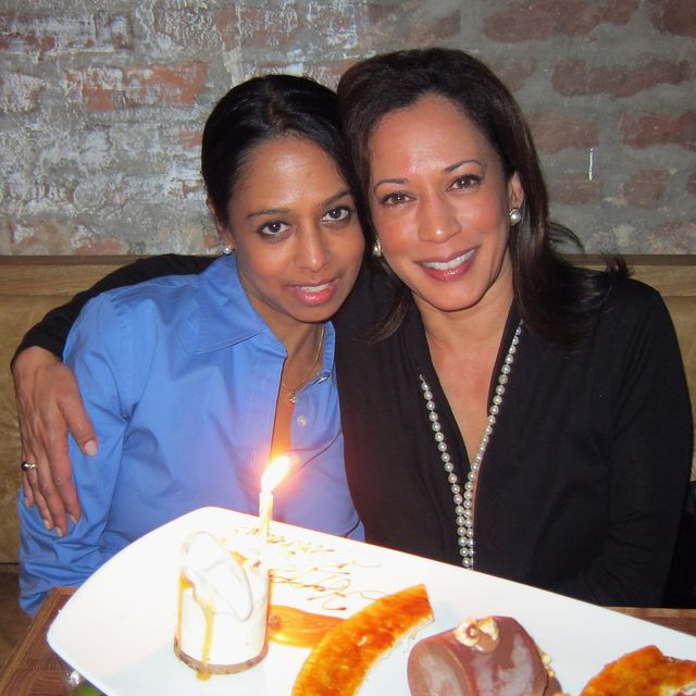 vice president of the ford foundation, maya harris l and attorney general of california, kamala harris pose at provocateur circa october 2011 in new york city  photo by jason binnwireimage