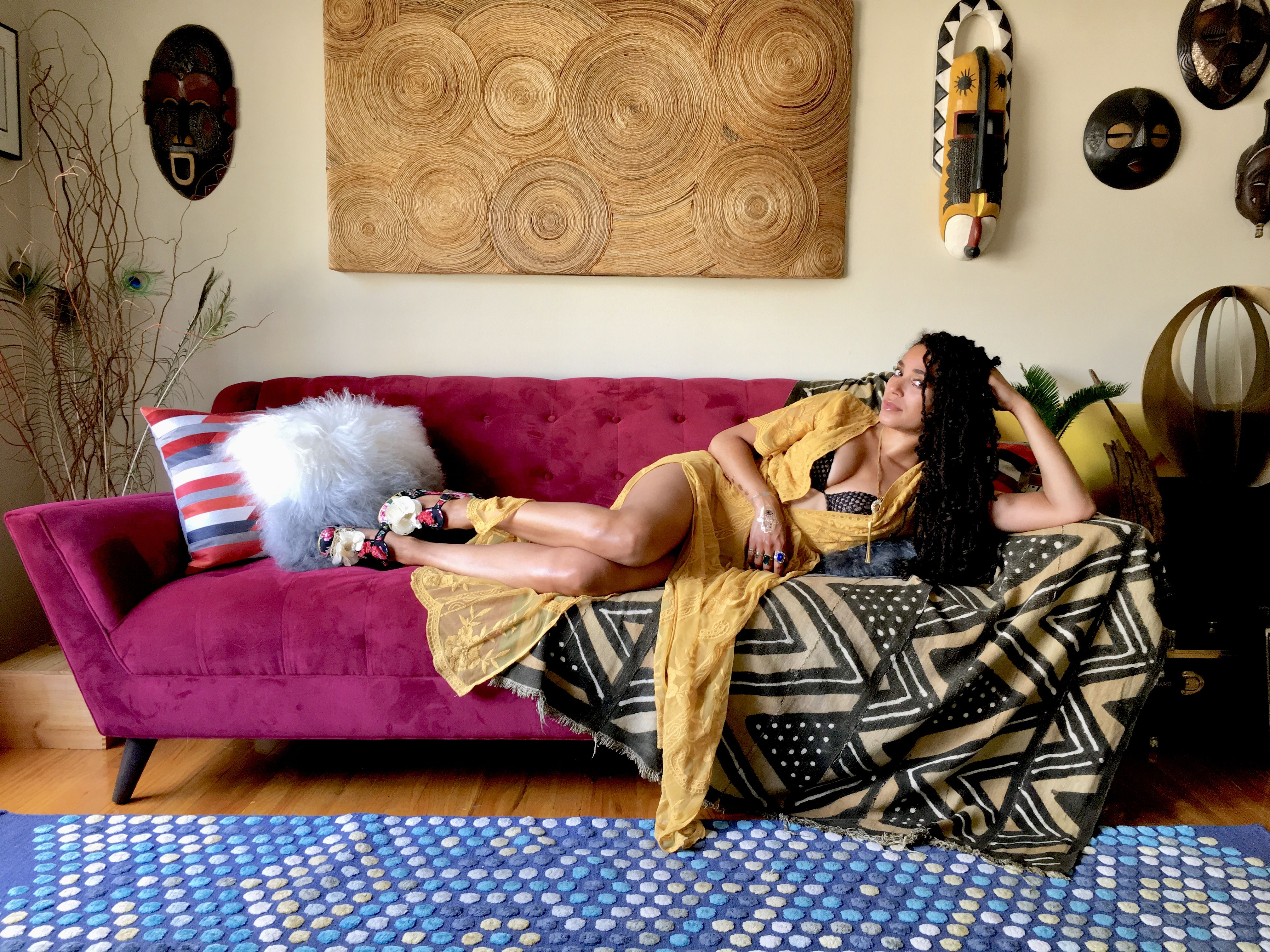 Detroit singer Mayaeni in The Couch Beautiful series