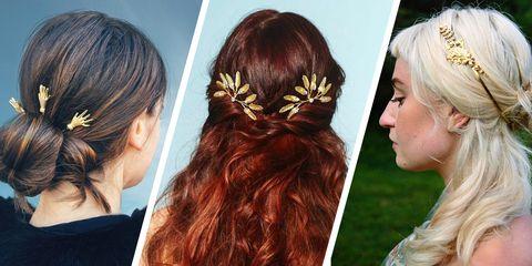 Hair, Hairstyle, Hair coloring, Brown hair, Beauty, Long hair, Chin, Hair accessory, Ear, Blond,