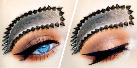 Eyebrow, Eyelash, Eye, Cosmetics, Organ, Beauty, Skin, Eye liner, Forehead, Eye shadow,