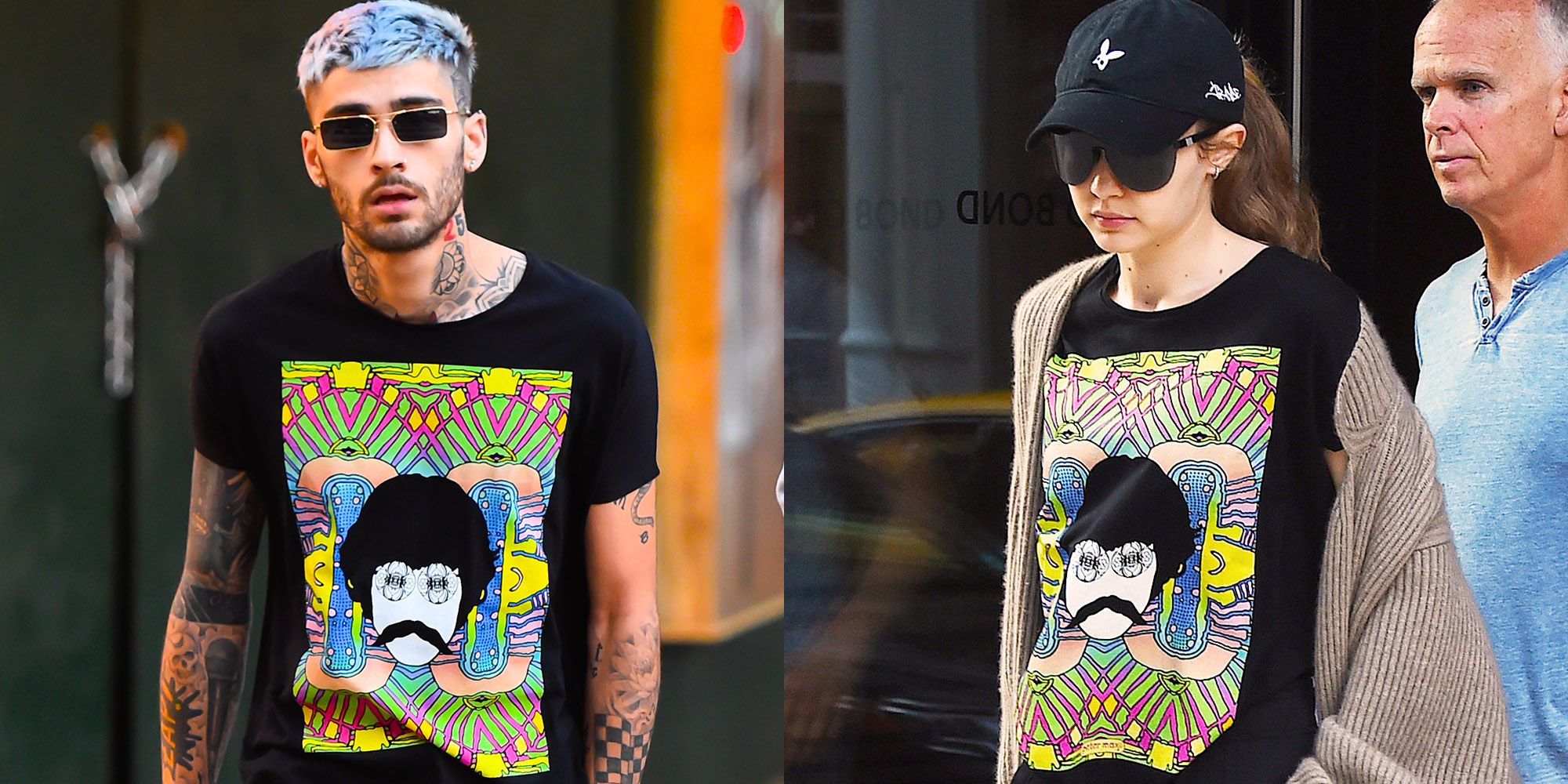 af3a75da51 Zayn Malik Wore Gigi Hadid's Wrangler T-shirt Out and Looked Pretty  Freaking Good In It