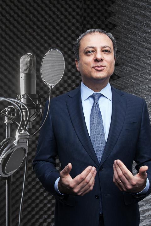 Microphone, Audio equipment, Suit, Public speaking, Microphone stand, Formal wear, White-collar worker, Speech, Spokesperson, Forehead,