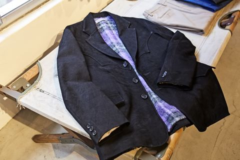 Clothing, Outerwear, Purple, Jacket, Suit, Coat, Blazer, Sleeve,