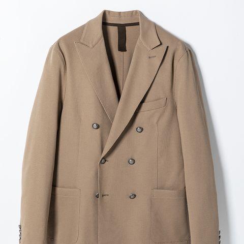 Clothing, Outerwear, Jacket, Sleeve, Beige, Tan, Coat, Blazer, Overcoat, Khaki,