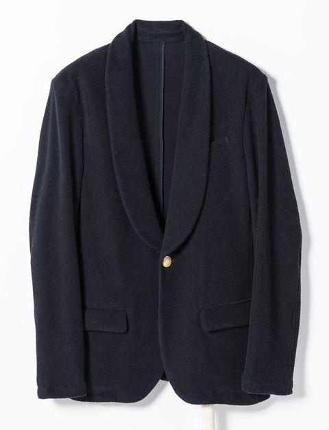 Clothing, Outerwear, Black, Blazer, Jacket, Button, Suit, Formal wear, Collar, Sleeve,