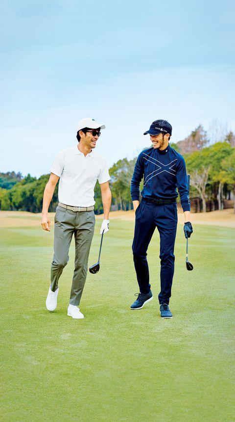 Golfer, Golf, Sport venue, Professional golfer, Golf club, Golf course, Golf equipment, Recreation, Standing, Sports equipment,
