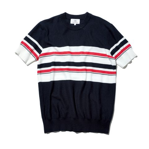 CK CALVIN KLEIN サマーニット 半袖 ニット Tシャツ