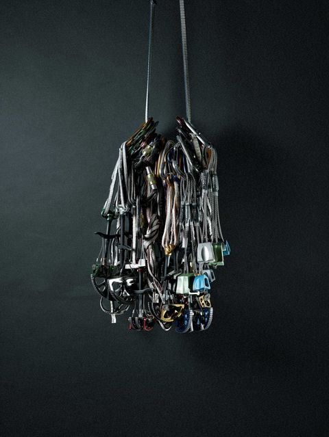 Leo Houlding's free solo climbing rack