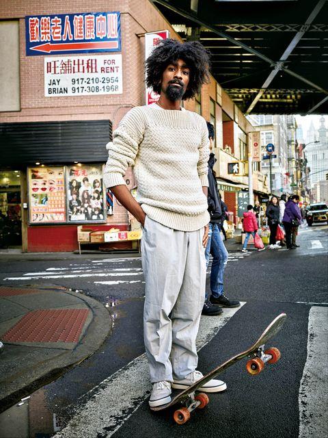Street fashion, Cool, Skateboard, Snapshot, Fashion, Longboard, Jeans, Footwear, Street, Recreation,