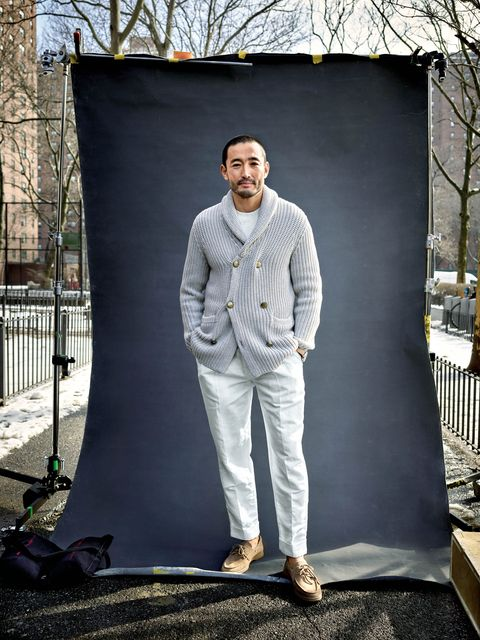 Standing, Fashion, Photography, Tree, Suit, Photo shoot, Jeans, Trousers, Model, Winter,