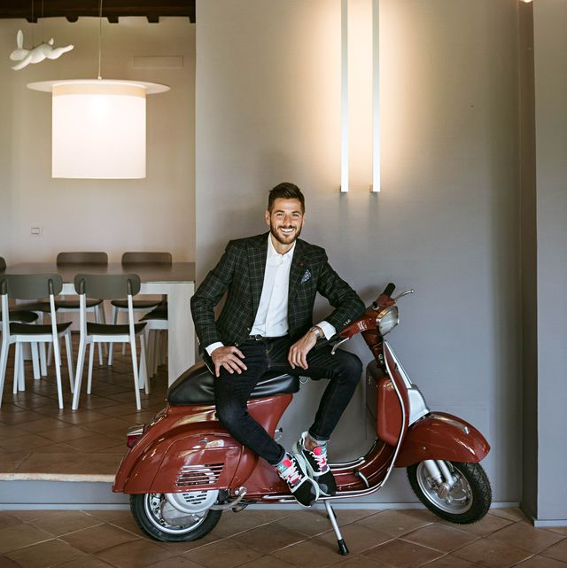 Vehicle, Product, Automotive design, Motorcycle, Architecture, Photography, Scooter, Wood, Sitting, Moped,
