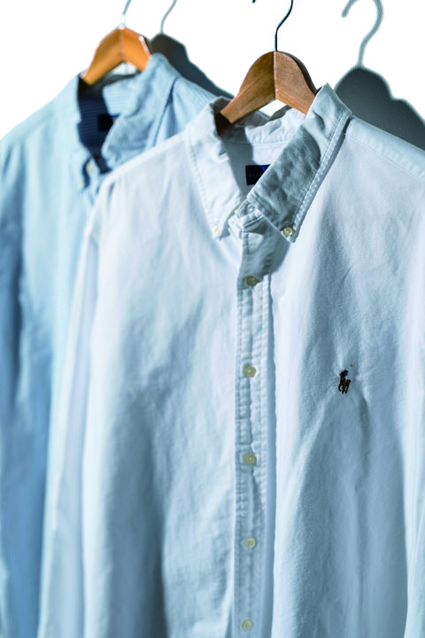 Clothing, Blue, Clothes hanger, Outerwear, Shirt, Sleeve, Button, Denim, Textile, Collar,
