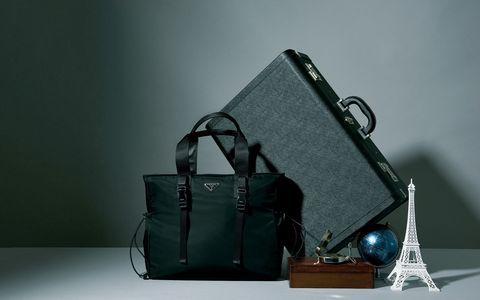 旅行 鞄 バッグ レザー プラダ