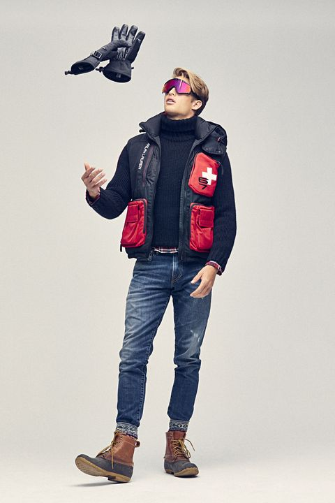 Clothing, Jeans, Denim, Jacket, Standing, Fashion, Outerwear, Shoulder, Sleeve, Joint,