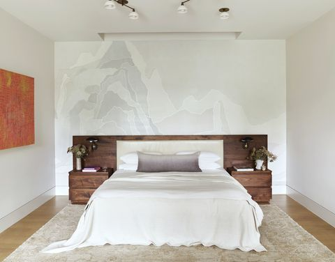 western exposure a shimmering collage wallcovering  references the mountain ridges of southern california