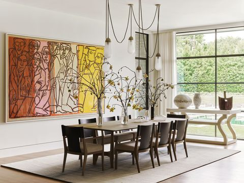 the dining table is inspired by a japanese sword rest