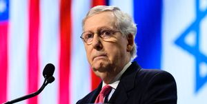 U.S. Senate Majority Leader Mitch McConnell (R-KY) seen