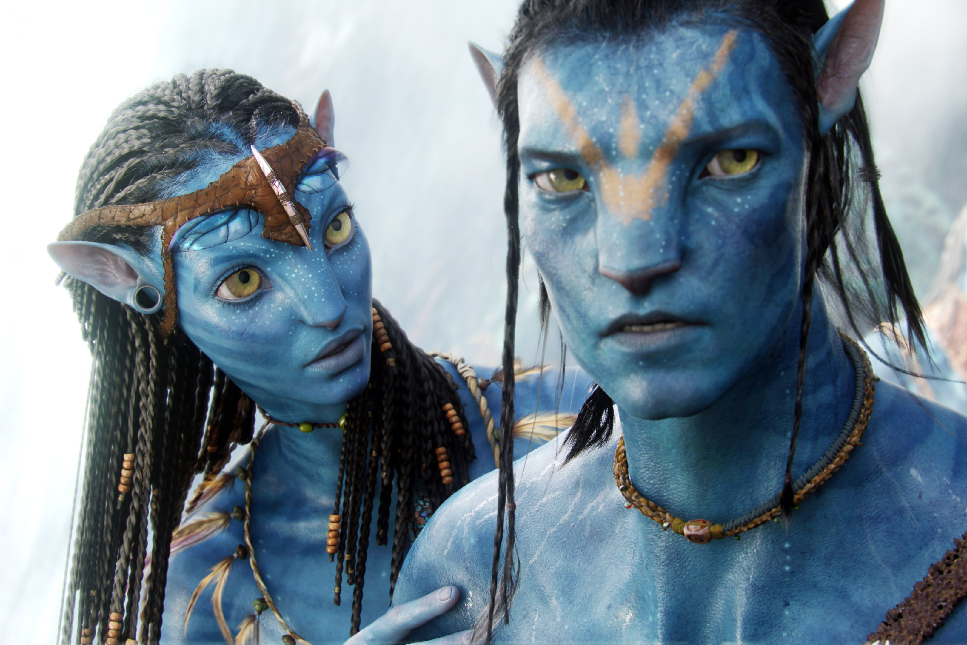 AVATAR, from left: Zoe Saldana, Sam Worthington, 2009, TM & Copyright ©20th Century Fox. All rights