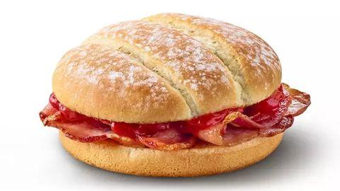 McDonald's bacon roll