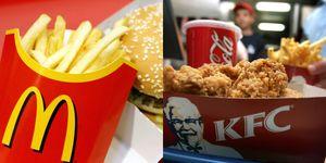McDonald's, Mcdonalds, KFC, fast food, burger, chips, chicken