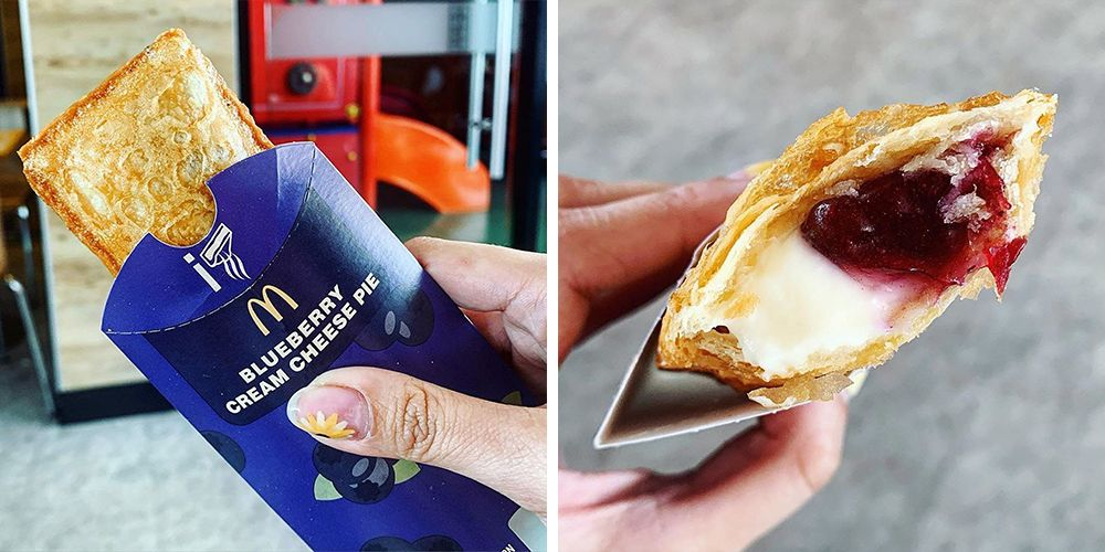 McDonald's New Blueberry Cream Cheese Pie Is Stuffed With Two Sweet Fillings