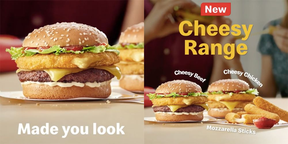 McDonald's New Cheesy Range Burgers Feature Mozzarella Patties