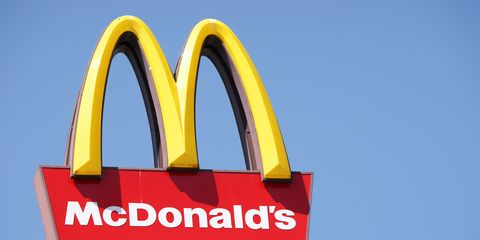 sign, signage, font, fast food restaurant, logo, brand,
