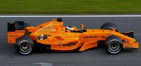 mclaren mercedes formula one test driver