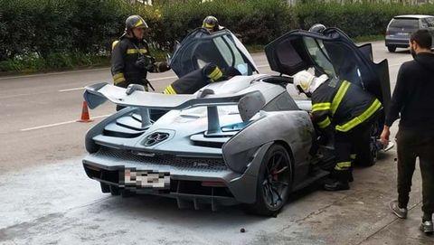 McLaren Senna arde en Braga