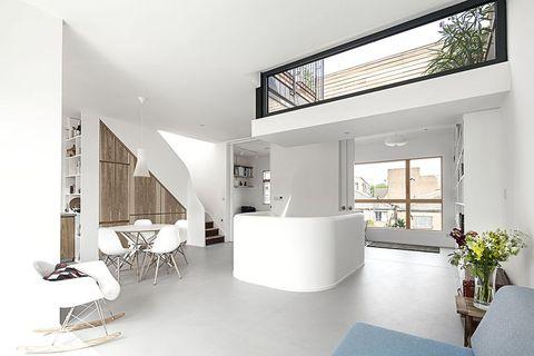 scenario architecture white room with skylight