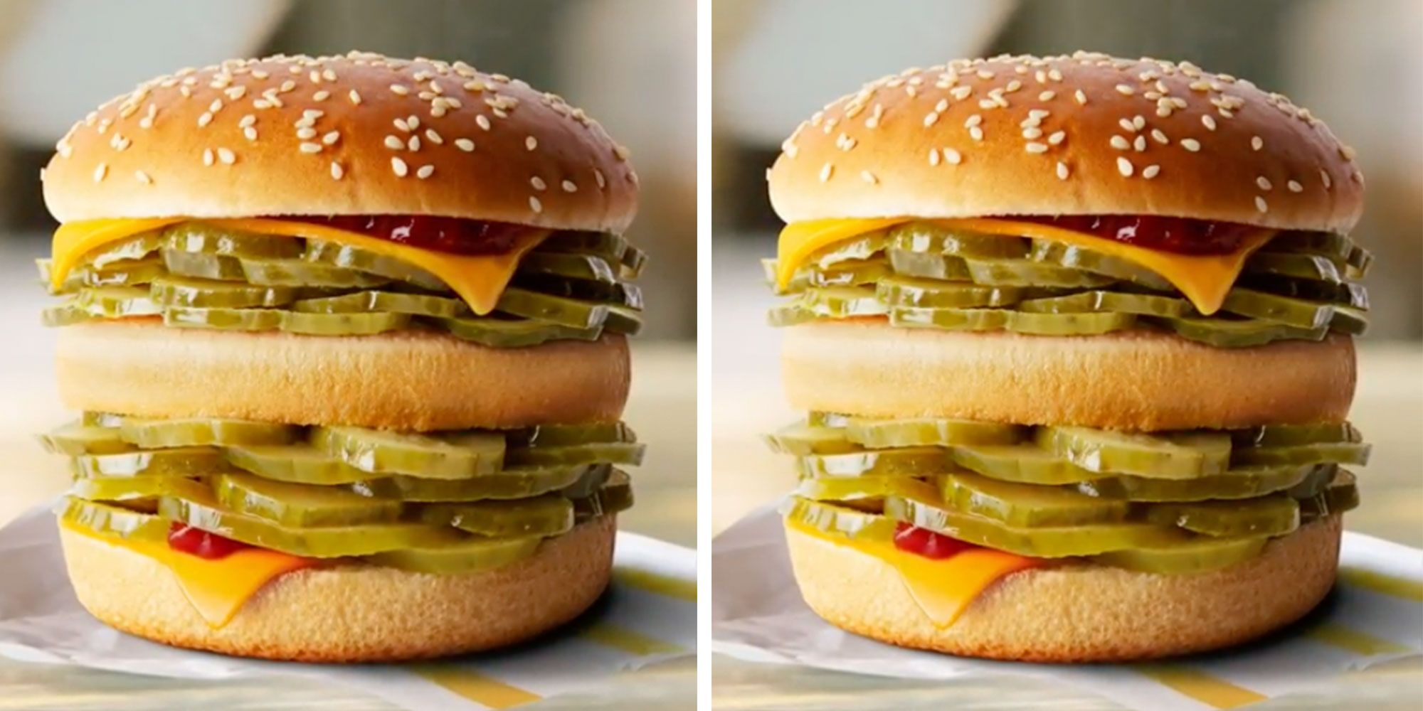 McDonald's McPickle Burger Is STACKED With Pickles, And People Are Devastated It's Not Real