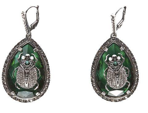 Jewellery, Fashion accessory, Earrings, Gemstone, Silver, Emerald, Oval, Body jewelry, Metal, Silver,