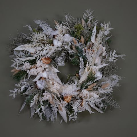 snø christmas wreath by mcqueens flowers