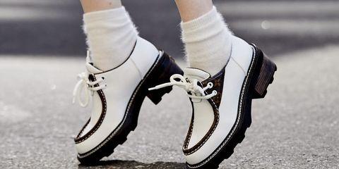 Footwear, White, Leg, Human leg, Shoe, Ankle, Joint, Street fashion, Calf, Fashion,