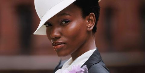 White, Formal wear, Suit, Hat, Fashion, Headgear, Tuxedo, Fashion accessory, Smile, Photography,