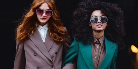 Green, Suit, Fashion, Eyewear, Pantsuit, Formal wear, Outerwear, Sunglasses, Blazer, Photography,