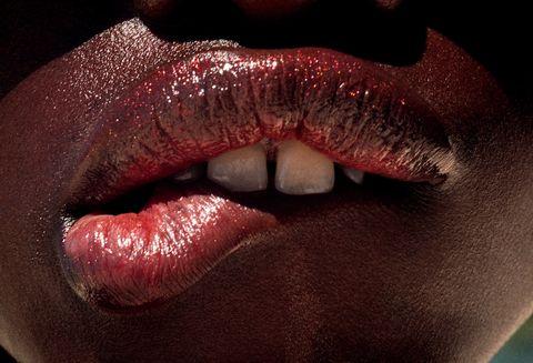 Lip, Mouth, Red, Close-up, Skin, Tooth, Chin, Tongue, Organ, Nose,