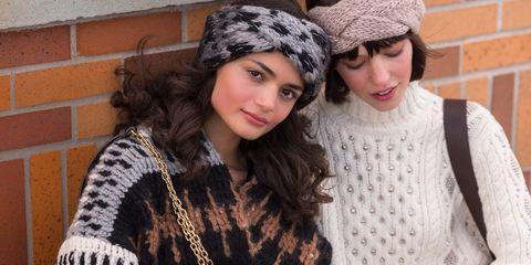 People, Beanie, Sitting, Knit cap, Headgear, Photography, Knitting, Fur, Fashion accessory, Cap,