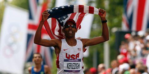 Media: Meb Keflezighi Olympic Marathon Finish