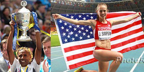 Jenny Simpson Meb Keflezighi USATF AOY 2014